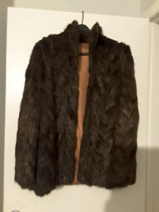 Size Large Woman's Real Fur Coat