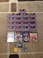 Snes games. Gameboy and games GameCube games
