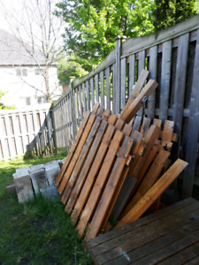 Fence boards, cinder blocks and patio stones for free
