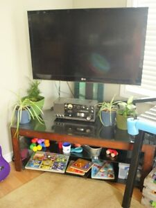Tempered Glass Corner TV Stand