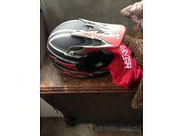 Childs motocross helmet
