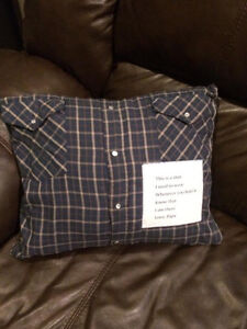 Custom made Memory Quilts and Pillows