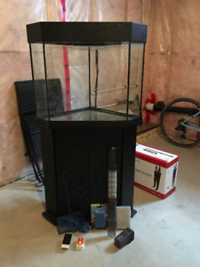 25 Gallon Aquarium with Stand and Accessories