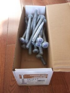 "1/2"" x 7"" galvanised carriage bolts. Box of 25"