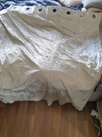 Crushed velvet blackout curtains