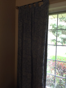 Curtains- 2 matching pairs- lined drapery fabric