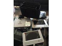 Twin screen in car DVD player with carry case