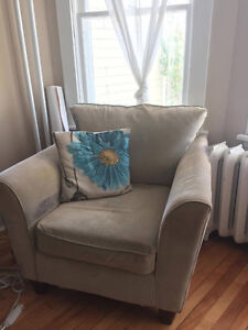 Beige Living Room Set plus Extra Blue Couch!!!