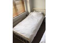 Single hospital style bed