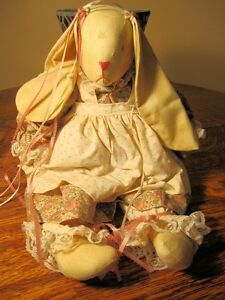 Handmade Tea Stained Rabbit Doll