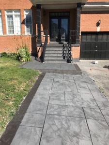 Decorative Jewel Stone Concrete Porch Resurfacing