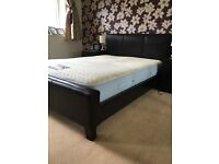 Leather bed frame and Sensaform Mattress - double