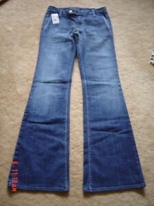 New~OFF5TH~SAKS FIFTH AVENUE OUTLET~Jeans, flare bottom low ri