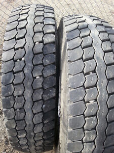2 Used, 12R22.5  Hankook Z35A