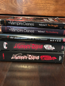 Vampire Diaries and Hunger Games books