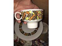 Ridgeway bone china Indian Summer tea set complete retro vintage
