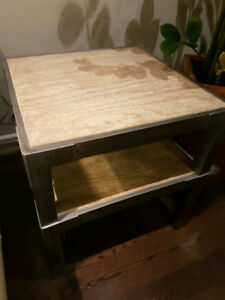 side tables - bouclair - weathered wood