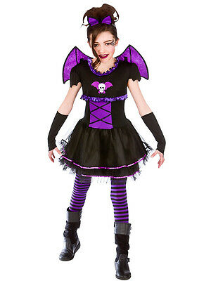 Halloween Girls Fancy Dress Up Horror Ballerina Bat Scary Kids Childrens Costume (Scary Kids Halloween Costumes For Girls)