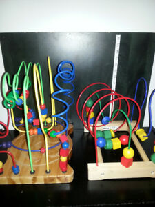 2 MAZE BEAD GAMES FOR YOUNG CHILDREN EDUCATIONAL