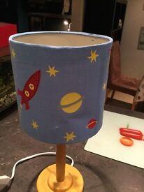 Lovely rocket lamp