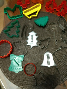Collection of cookie cutters