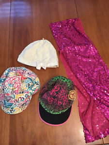 Small and Medium Sized Hats, plus one hot pink sequin scarf
