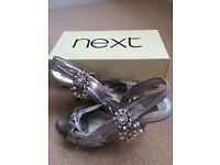 Next silver shoes £16
