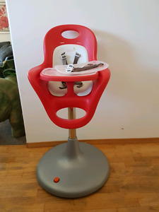 Boon Flair Pneumatic Pedestal High Chair in Red