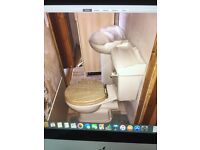 Toilet and wash hand basin set(not including toilet seat) for sale £30 for both.