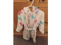 John Lewis Girl's Fleece Dressing Gown Age 3