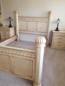Solid Wood Bed Set- Queen