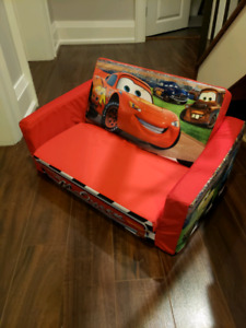 Kids Lightning McQueen Couch (flips out to small bed)