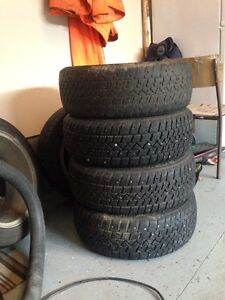 4 studded winter tires with 4 bolt pattern winter rims