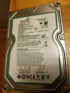 500GB Hard Drive by Seagate 3.5""