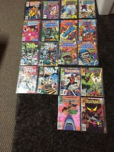 Marvel and DC comics mid 80s- lot of 18
