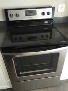 Whirlpool Stainless Steel Fridge and Matching Stove Regina Regina Area image 4