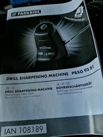 Drill sharpening tool.