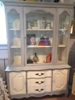 Gorgeous Refinished Display Hutch