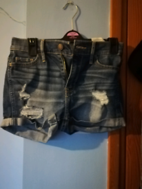 Holister short-short higjrise shorts, used for sale  Mexborough, South Yorkshire