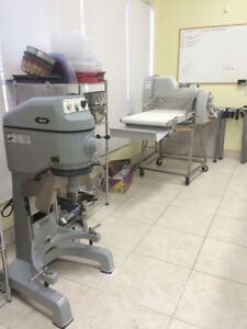 BAKERY EQUIPMENT FOR SALE - Mixer & Table Top Sheeter