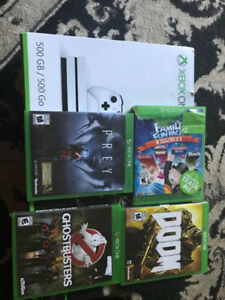 LNIB Xbox one S with 4 games