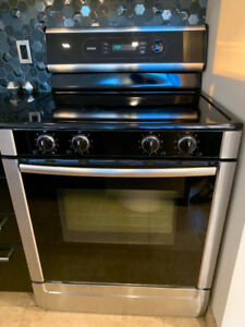 "Bosch Range (30"") and Fisher&Paykel Fridge"