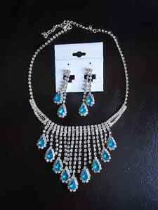 necklace earrings silver turquoiose