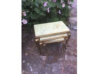 Vintage Rococo Shabby Chic Nest Of Tables Sale Today Only