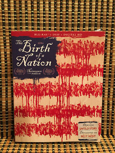 The Birth of a Nation (2-Disc Blu-ray/DVD, 2017)+Slipcover.