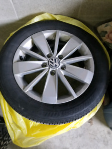 Vw rims and tires.  Jetta/golf etc