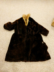 Vintage mouton fur coat for crafters