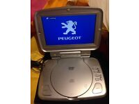 2x Peugeot DVD players