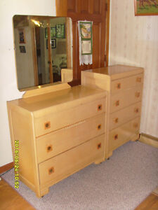 DRESSER with MIRROR and CHEST - $280