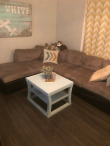 Blue chalk paint coffee table